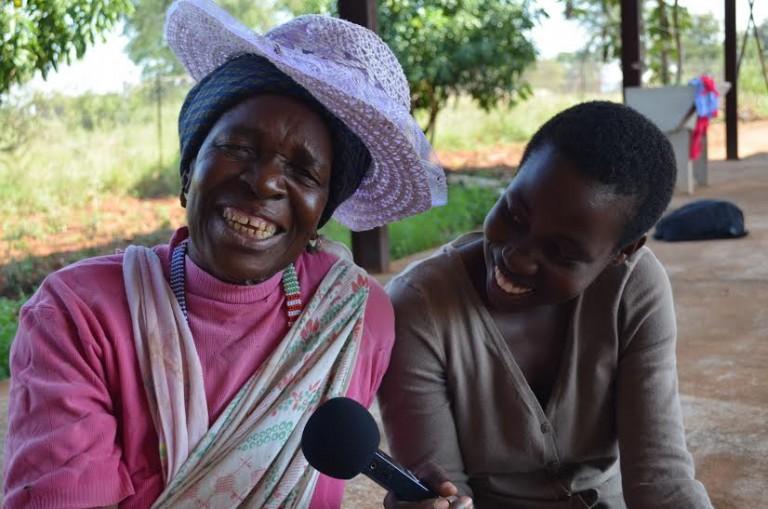 Maria Risiba with interpreter Basani Ngobeni