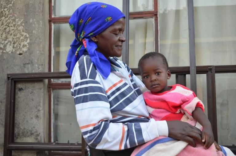 Alice Kgamedi and grandchild